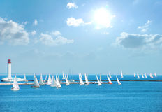 Yachts in the regatta Royalty Free Stock Image
