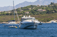Yachts in Revellata bay Corsica Stock Images