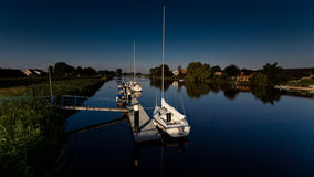 Yachts on river Stor Royalty Free Stock Photography