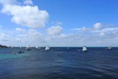 Yachts,Rottnest Island. Yachts on the sea,Rottnest Island,Perth, Western Australia Royalty Free Stock Photo