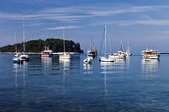 Yachts in Rovinj Stock Image