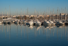 Yachts Sailboats at Alimos Marina Greece Royalty Free Stock Image