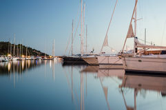 Yachts and Sailboats in the Harbour royalty free stock photo