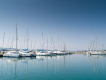 Yachts and sailboats marine Croatian adriatic sea Royalty Free Stock Images