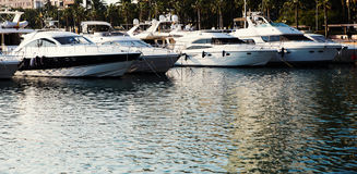 Yachts and sailboats in Port Royalty Free Stock Image