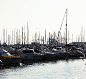 Yachts and sailboats in Port Royalty Free Stock Images