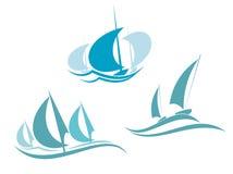 Yachts and sailboats Stock Image
