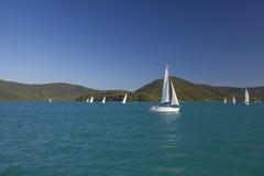 Yachts Sailing Royalty Free Stock Photo