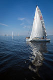 Yachts sailing regatta Stock Photo