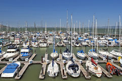 Yachts in San Francisco marina Royalty Free Stock Photos