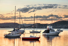 Yachts at Saratoga NSW Australia Stock Images