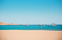 Yachts in sea Stock Image