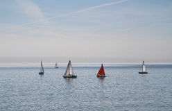 Yachts at sea. Stock Images
