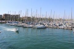 Yachts at sea royalty free stock photography