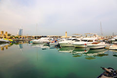 Yachts at sea - Dubai Royalty Free Stock Photos