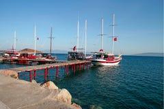 Yachts sea harbor Stock Image