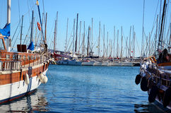 Yachts sea  port in Bodrum Royalty Free Stock Image