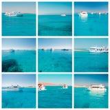 Yachts in sea set Stock Photo