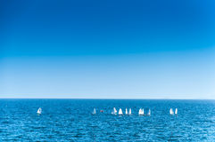 Yachts on the sea Stock Photo