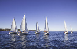 Yachts in sea Stock Images