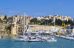 Yachts, Senglea marina Stock Photos