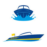 Yachts 2. A set of yacht icons Stock Images
