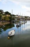 Yachts, six dans une rangée Photo libre de droits