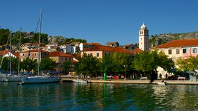 Yachts in Skradin, Croatia Royalty Free Stock Photo