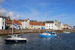 Yachts and small boats, St Monans, Fife, Scotland Stock Image