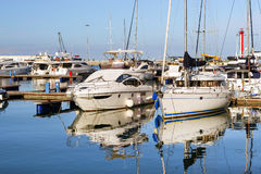 Yachts in Sochi seaport, Russia Royalty Free Stock Image
