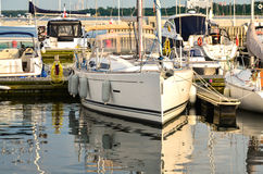 Yachts in Sopot-Poland Royalty Free Stock Photography
