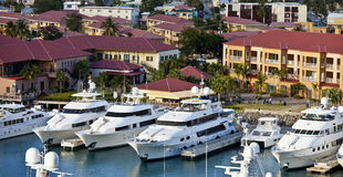Yachts in st thomas. Yachts parked in st thomas, us virgin islands Royalty Free Stock Photography