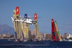 Yachts starting in Alicante in VOR Stock Images
