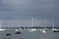 Yachts before the storm Royalty Free Stock Image