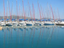Yachts. Summer European yachting holiday in Greek Stock Photo