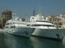 Yachts superbes Images stock