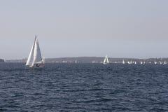 Yachts sur l'eau Images libres de droits