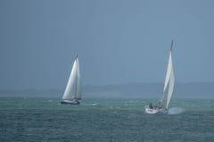 Yachts sur la Manche Photographie stock