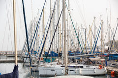 Yachts sur le pilier Photos stock