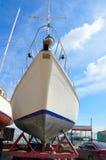 Yachts sur le stationnement de l'hiver Photographie stock libre de droits