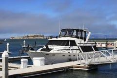 Yachts sur un pilier Photo stock