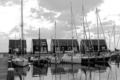 Yachts   sur un port Image stock