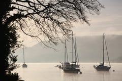 Yachts sur Windermere Image stock