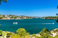 Yachts in Sydney Harbour as seen from Barangaroo Reserve Park Royalty Free Stock Photo