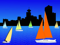 Yachts in Vancouver Royalty Free Stock Images