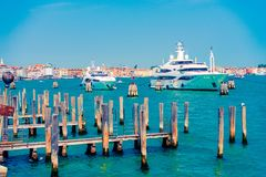 Yachts in Venice, Italy Stock Images