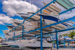 Yachts waiting for maintenance Royalty Free Stock Photography