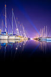 Yachts at a wharf Stock Photography