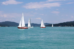 Yachts with white sails Stock Photography