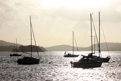 Yachts on Windermere in English Lake District Royalty Free Stock Photos